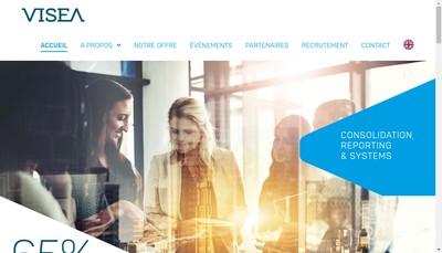 Site internet de Visea Consulting