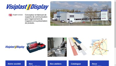 Site internet de Visiplast Display