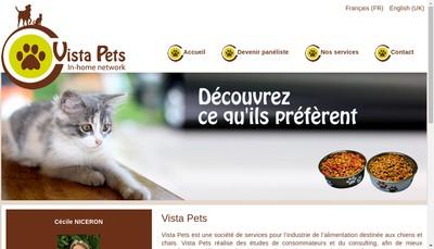 Site internet de Vista Pets