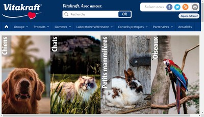 Site internet de Vitakraft Simon Louis Labo Veterinaire