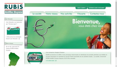 Site internet de Rubis Antilles Guyane