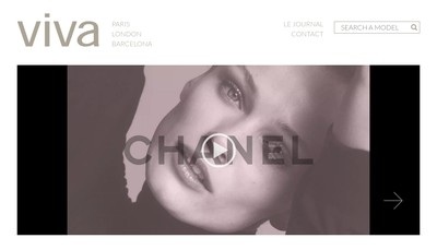 Site internet de Viva Model Management