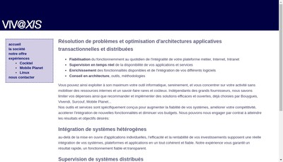 Site internet de Vivaxis