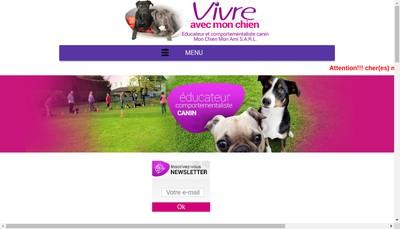 Site internet de Mon Chien Mon Ami Vivre Avec Mon Chien