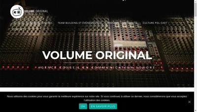 Site internet de SARL Volume Original
