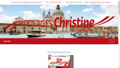 Site internet de Voyages Christine Palpacuer