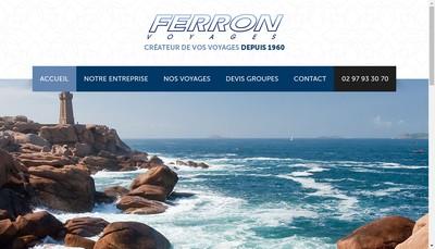 Site internet de SARL Transports Ferron