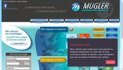 Site internet de Autocars Mugler et Cie