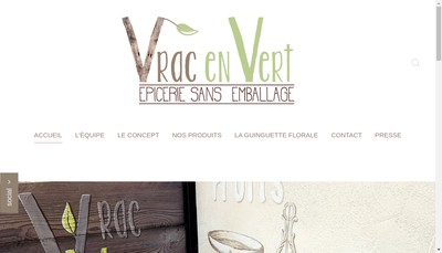 Site internet de Vrac en Vert