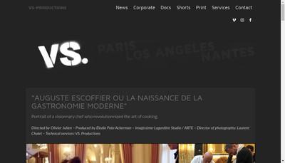 Site internet de Vs Productions