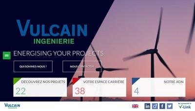 Site internet de Vulcain Ingenierie