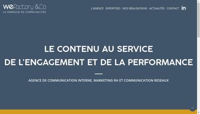 Site internet de Wefactory
