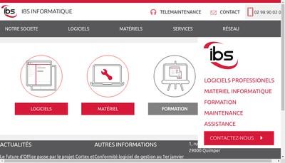 Site internet de Ibs Informatique