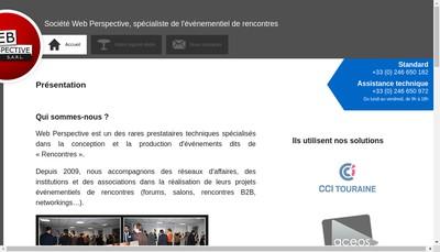 Site internet de Web Perspective