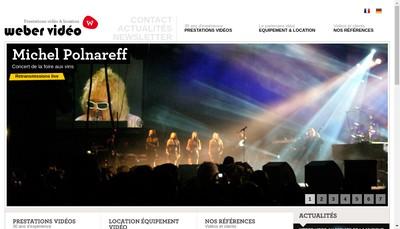 Site internet de Weber Video