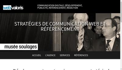 Site internet de Webvaloris Fr