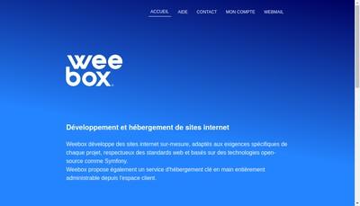 Site internet de Weebox