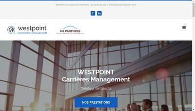 Site internet de Westpoint Carrieres Management