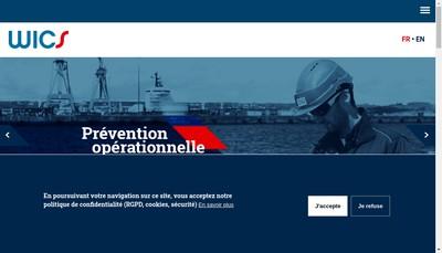 Site internet de Wics Naval