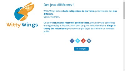 Site internet de Witty Wings
