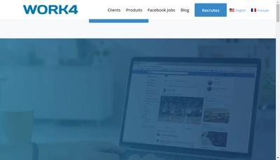 Site internet de Work4