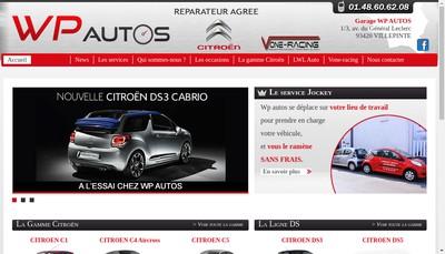 Site internet de Wp Autos