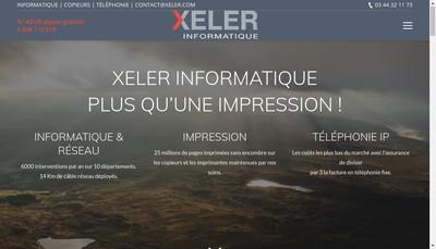 Site internet de Xeler Informatique et Communication