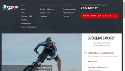 Site internet de Xtrem Sport