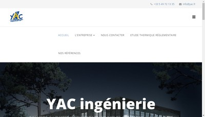 Site internet de YAC Ingenierie