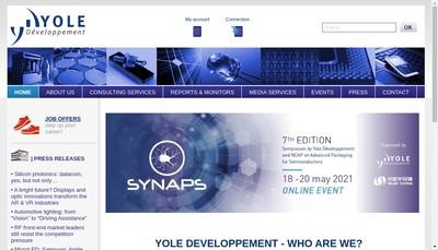 Site internet de Yole Developpement