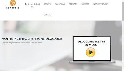 Site internet de Ysentis