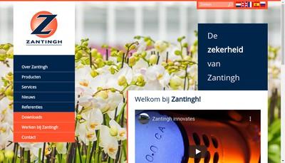 Site internet de Zantingh France SARL