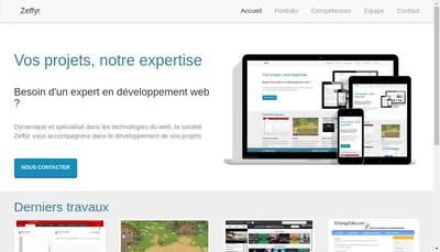 Site internet de Zeffyr