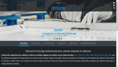 Site internet de Zenium