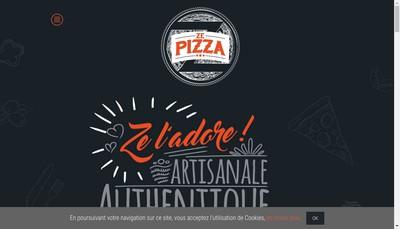 Site internet de Crousti'Pizzas - Ze Pizza