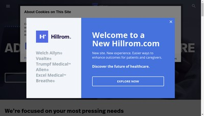Site internet de Hill-Rom SAS