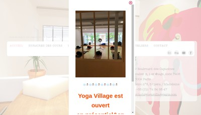 Site internet de Yoga Village
