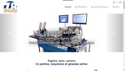 Site internet de Yvelines Distribution