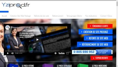 Site internet de Yziprod