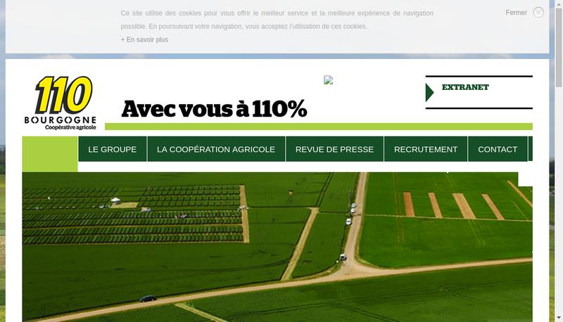 Capture d'écran du site de Nati Vert
