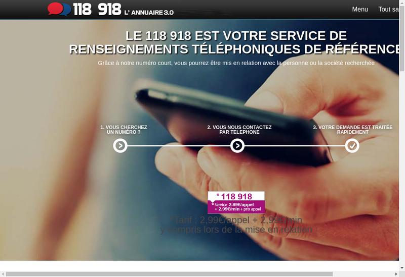 Capture d'écran du site de Le 118 918