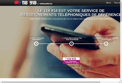 Site internet de Le 118 918