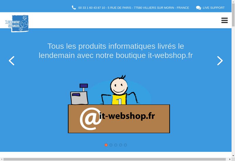 Capture d'écran du site de 1Formatic Services