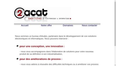 Capture d'écran du site de 2Acat