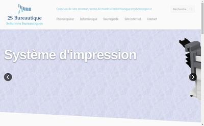 Site internet de 2S Bureautique