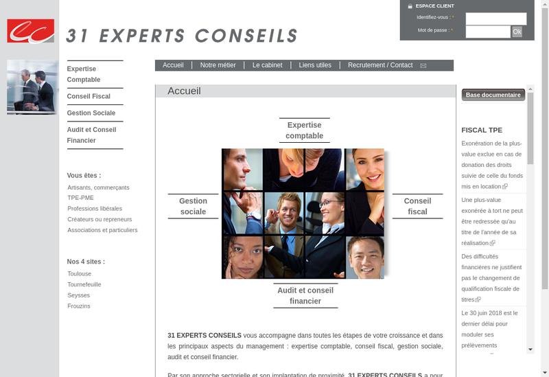 Capture d'écran du site de Christophe Alcover