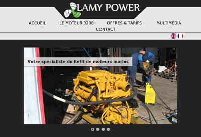 Capture d'écran du site de Lamy Power