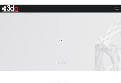 Capture d'écran du site de 3DA