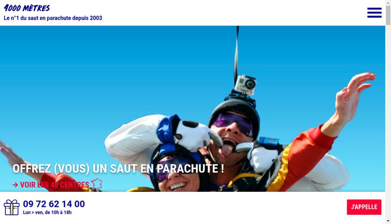 Capture d'écran du site de HUB
