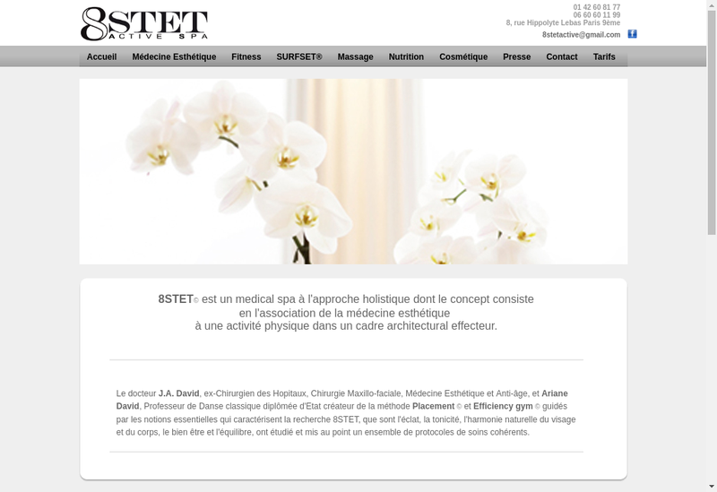 Capture d'écran du site de 8 Stet